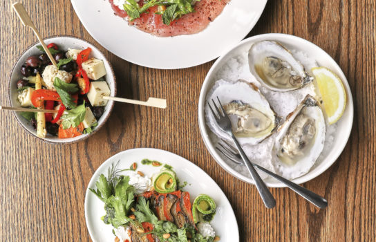 Oysters, tuna and other colorful foods.