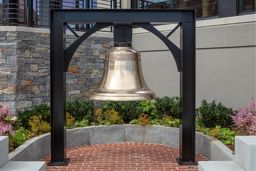 Large bell - outdoors.